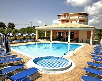 Отель вилла с бассейном греция